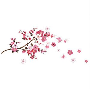 Large Peach Blossom Flower Wall Stickers