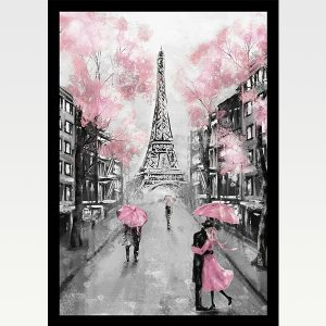 High Quality Print Wall Poster Pink Paris