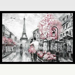 High Quality Print Wall Poster Pink Paris Too