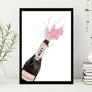 High Quality Print Wall Poster Pink Champagne