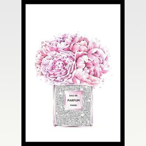 High Quality Print Wall Poster Pink Perfume