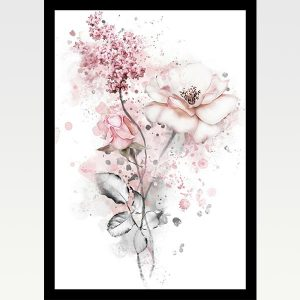 High Quality Print Wall Poster Pink Flowers