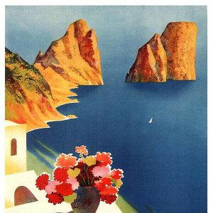 High Quality Vintage Travel Print Wall Poster Capri
