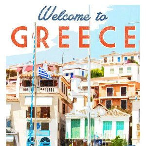 High Quality Vintage Travel Print Wall Poster Greece