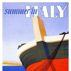 High Quality Vintage Travel Print Wall Poster Italy