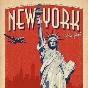 High Quality Vintage Travel Print Wall Poster New York