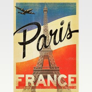 High Quality Vintage Travel Print Wall Poster Paris