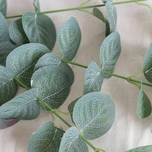 Artificial Fake Leaf Eucalyptus Green Plant