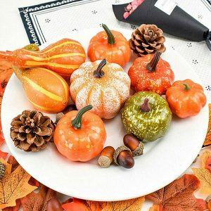 50 Piece Artificial Pumpkin Autumn Home Decor