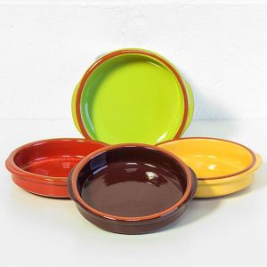 4 x Tapas Style Bright Coloured Glazed Bowls