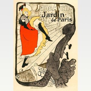Vintage French Art Poster Print Jane Avril