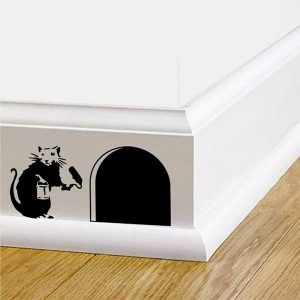 Banksy Rat Skirting Board Sticker