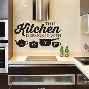 Kitchen Seasoned With Love Wall Sticker