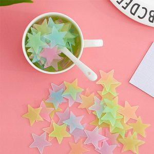100 x Glow In The Dark Stars Multi Colour