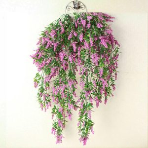 2 x Hanging Artificial Ivy Flower Garland Rose