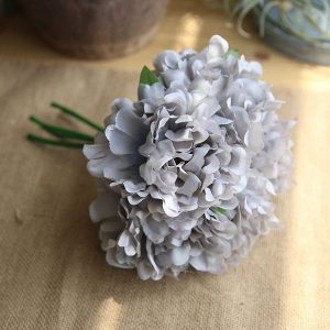 5 x Head Silk Peony Bouquet Grey