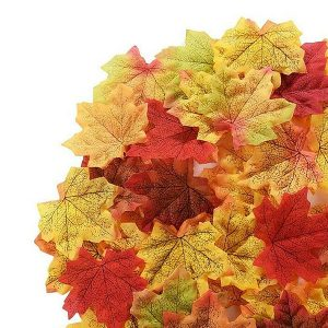 200 x Mixed Shades Silk Loose Autumn Leaves