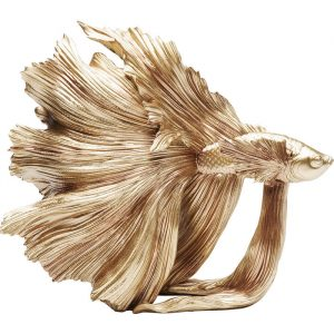 Beautiful Betta Fish Gold Decorative Ornament
