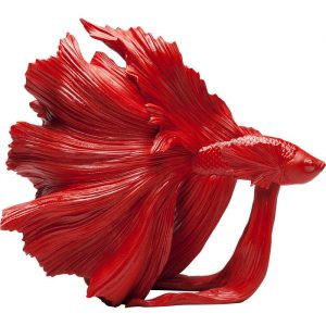 Beautiful Betta Fish Red Decorative Ornament