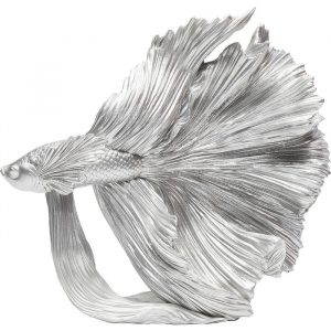Beautiful Betta Fish Silver Decorative Ornament