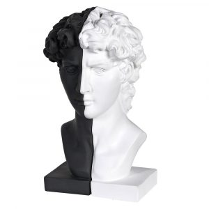 Black and White Male Bust Bookends