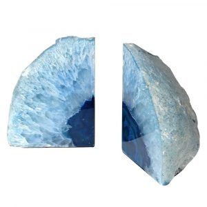 Blue Agate Pair Bookends