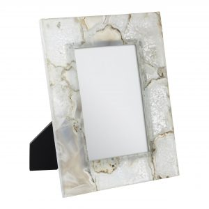 Bowerbird White Agate 5 X 7 Photo Frame