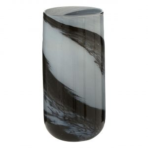 Carra Grey Black Brushstroke Large Vase