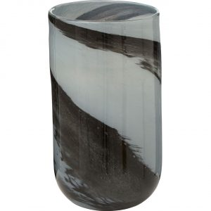 Carra Grey Black Brushstroke Small Vase