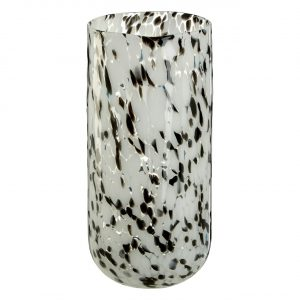 Carra Large Speckled Grey Glass Vase