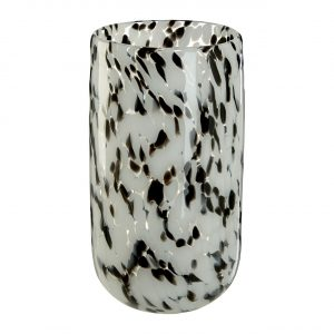 Carra Small Speckled Grey Glass Vase