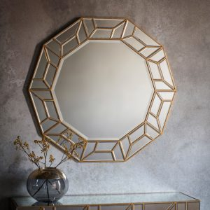 Celeste Decagon Mirror