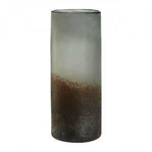 Chiara Large Grey Metallic Vase