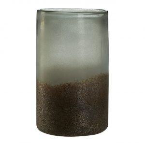 Chiara Medium Grey Metallic Vase
