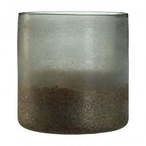 Chiara Small Grey Metallic Vase