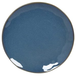 Classic Blue Stoneware Dinner Plate Set