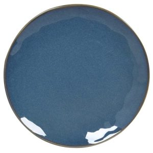 Classic Blue Stoneware Side Plate Set