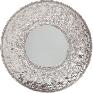 Cosmos Flowers Metallic Round Mirror