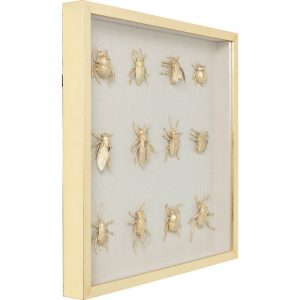 Deco Framed Golden Bugs