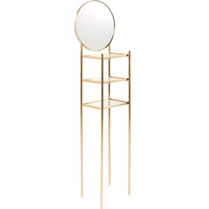 Deco Tall Floor Standing Round Mirror