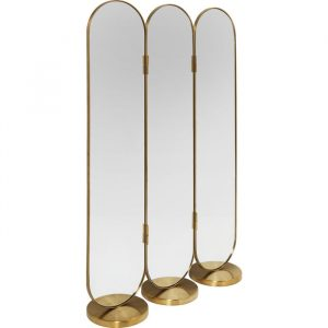 Deco Curve Tall Room Divider Mirror