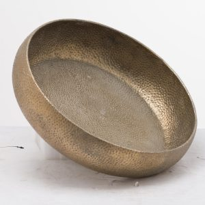 Evi Antique Bronze Display Charger Bowl