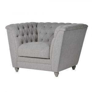 Fawn Buttoned Box Chair