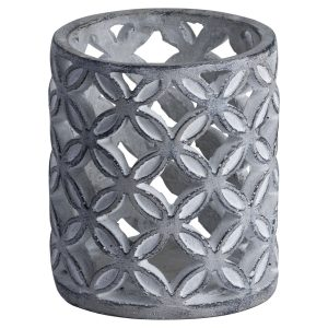 Small Geometric Stone Candle Sconce
