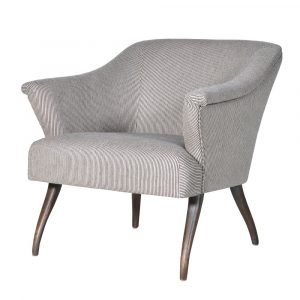 Grey Pinstripe Easy Curve Chair