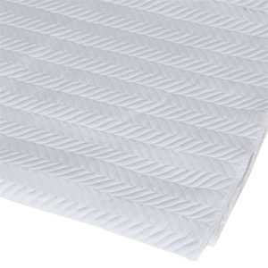 Herringbone White Superking Bedspread