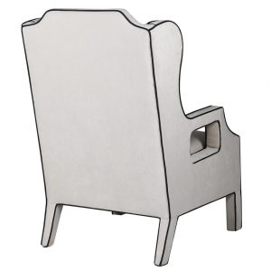 Iris Monochrome Piped Armchair