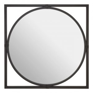 Jair Square Black Wall Mirror