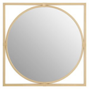 Jair Square Gold Wall Mirror