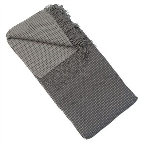 Loire Grey Woven Throw
